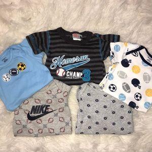 Baby boy sports onesie bundle